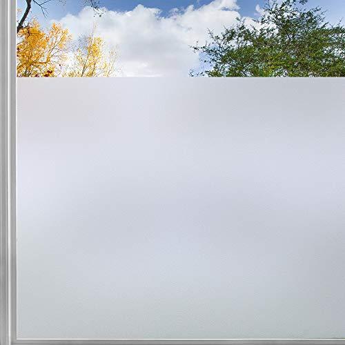 rabbitgoo Pellicola per Vetri Finestre 44.5 x 200 CM Pellicola Finestre Privacy con Griglia Senza Colla Anti-UV Pellicola Vetro per Ufficio Bagno Camera da Letto Sala di Riunione