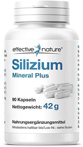 Silizium Mineral Plus – mit Magnesium, Zink, Eisen und Vitamin D3 – 90 vegane Kapseln aus Bambusextrakt