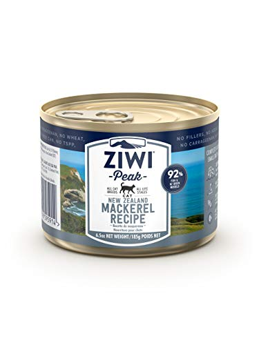 ZIWI Peak Canned Wet Cat Food – All Natural, High Protein, Grain Free, Limited Ingredient, with Superfoods (Mackerel, Case of 12, 6.5oz Cans)