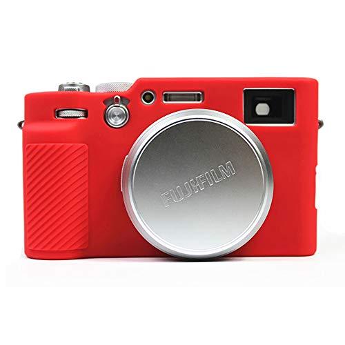 対応 Fujifilm Fuji 富士 PEN X100V カメラカバー シリコンケース シリコンカバー カメラケース 撮影ケース ライナーケース カメラホルダー、Koowl製作、外観が上品で、超薄型、品質に優れており、耐震・耐衝撃・耐磨耗性が高い (レッド)