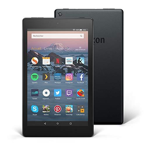 Tablette Fire HD 8, écran HD 8' (20,3cm), 16Go (Noir) - avec offres spéciales