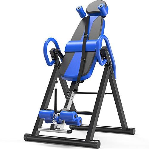Yhjklm-SPORT Table d'inversion Table Se Pliante résistante d'inversion étirant la Machine avec la Taille réglable pour Le Dos Confort ET Support (Couleur : Bleu, Taille : 74 * 115 * 152cm)