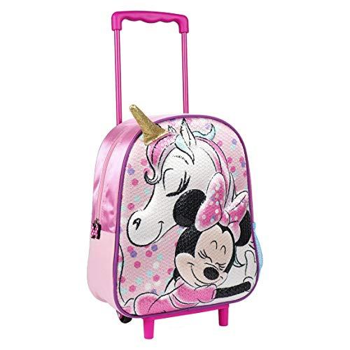 Artesania Cerda Mochila Carro Infantil 3d Minnie Zainetto per bambini, 31 cm, Rosa