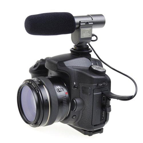 Neewer SG-108 ステレオマイクロフォン ビデオカメラ/DV用 Canon EOS 1D Mark IV 5D Mark II III 7D 70D 60D Kiss X5 Kiss X6i Kiss X7i Kiss X4 Nikon D800 D800E D600 D7100 D5200 D7000 D300s D3s Pentax K-7 K-5対応