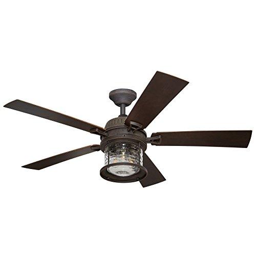 Allen Roth Ceiling Fan Buyer's Guide: Stonecroft 52-in Rust LED Ceiling Fan