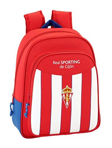 Safta Mochila Escolar Infantil Animada Real Sporting De Gijon Oficial 270x100x330mm