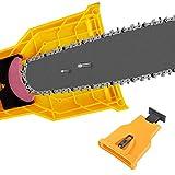 Ineedtech Chainsaw Teeth Sharpener, Universal Bar-Mounted Chain Saw Blade Sharpener Fast...
