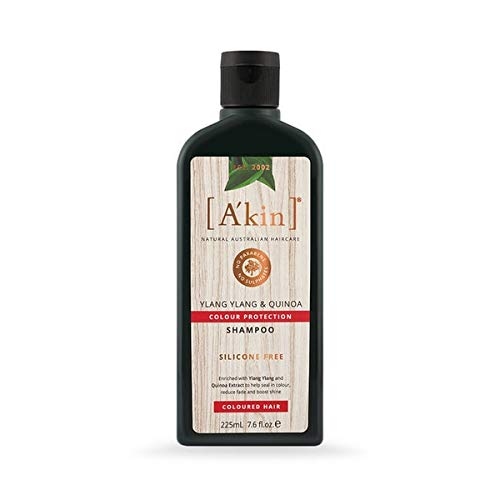 A'kin Ylang Ylang & Quinoa Colour Protection Shampoo For Colour Treated Hair, Free From Parabens, Sulfates and Silicones, 225 ml