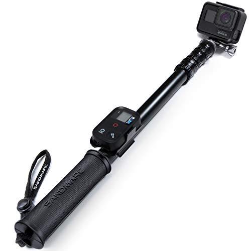 SANDMARC Pole - Metal Edition: 38-132 Impermeabile Stick (Pole) per GoPro Hero 8, Max, 7, Osmo Action, 6, 5, 4, 3, 2, HD Cameras - Alluminio Telescopico Design