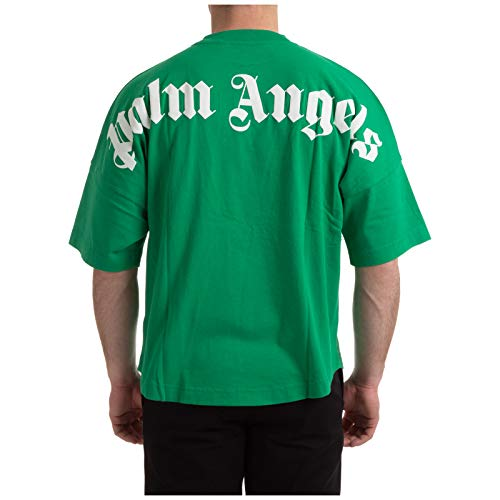 Palm Angels Classic Logo t-Shirt Uomo Forest Green - White S