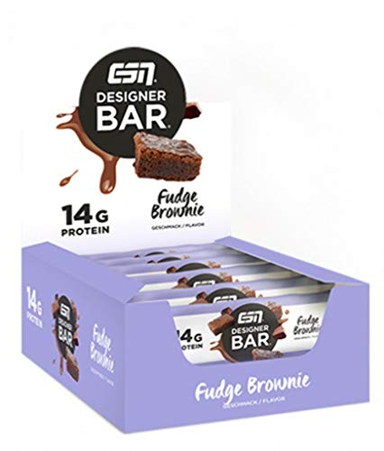 ESN Designer Bar Box, 12 x 45 g Riegel (Fudge Brownie)