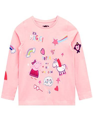 Peppa Pig Camiseta de Manga Larga para niñas Unicornio Rosa 18-24 Meses