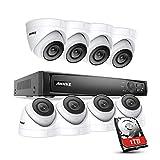 Annke 8CH POE 4K kit de Surveillance NVR avec HDD 1TB et 8 Caméra Extérieures Dôme 2MP,IP66 Imperméable avec la Vision Nocturne de 100ft