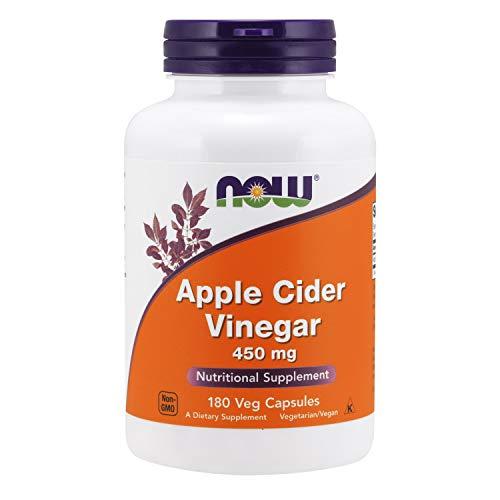Now Foods, Apfelweinessig, 450 mg, 180 Kapseln, sojafrei, glutenfrei