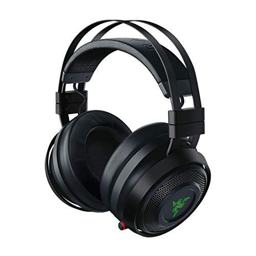 Razer Nari Ultimate Casque Gamer Sans Fil (Bluetooth Casque de Jeu Sans Fil avec Razer HyperSense, THX Spatial Audio 360°, Coussin de Gel Rafraîchissant & RGB Chroma pour PC, PS4, Xbox One & Switch)