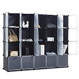 CAMORSA 14' x 14' Cube Storage Organizer with Doors, 20 Cubes Portable Closet Storage Cube Wardrobe...