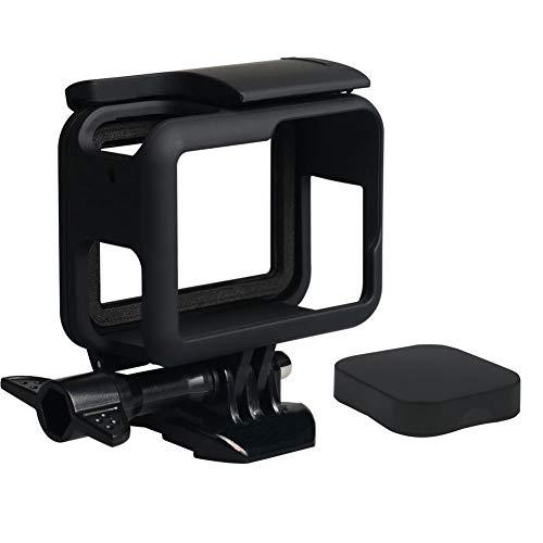 Harwerrel Protettiva Telaio Custodia Case con copriobiettivo per GoPro Hero 7 Hero 2018 Hero 6 Hero 5 Nero Action Camera con Attaco Rapido e Vite
