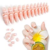 240 piezas Uñas postizas francesas Kit de puntas de uñas postizas francesas blancas Kit de uñas artificiales de cubierta completa 12 tamaños...