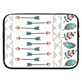Tribal Arrows - Bolsas para portátil compatibles con Tableta Netbook de 15 ″, maletín con Funda de Pringting, Funda para Bolso de Transporte