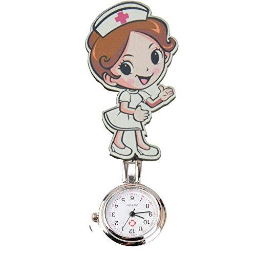 Reloj de bolsillo de cuarzo de la marca SENCEE, dise?o de enfermera