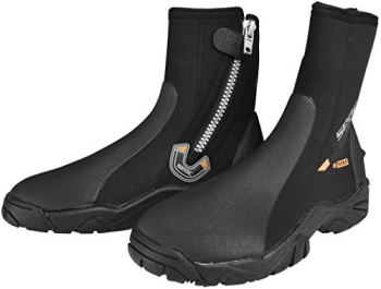 SEAC Pro HD 6mm Neoprene Wetsuit Boots with Side Zipper, X-Large