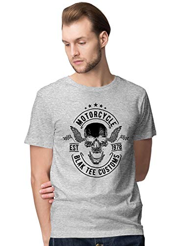 BLAK TEE Hombre Motorcycle Customs Cafe Style Racer Camiseta L