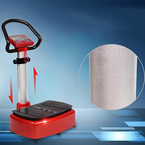 Lamyanran Professional Vibration Platform Exercise Machine, Intelligent Vitality Aerobic Health Exercise Machine, Passive Vibration Fat Reduction Machine, Exercise Equipment (Size : Black red) 3