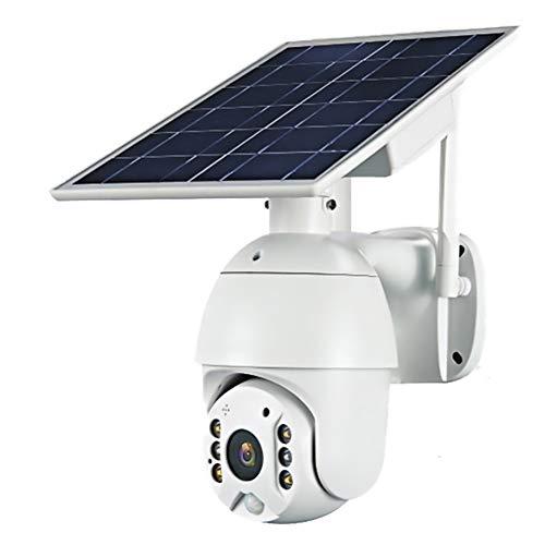Telecamera a batteria solare 3G / 4G LTE, telecamera di sicurezza PTZ per esterni con pannello solare, visione notturna a colori, rilevamento del movimento video, audio bidirezionale