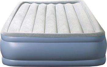 Simmons Beautyrest Hi-Loft Inflatable Air Mattress: Raised-Profile Air Bed with External Pump, Full