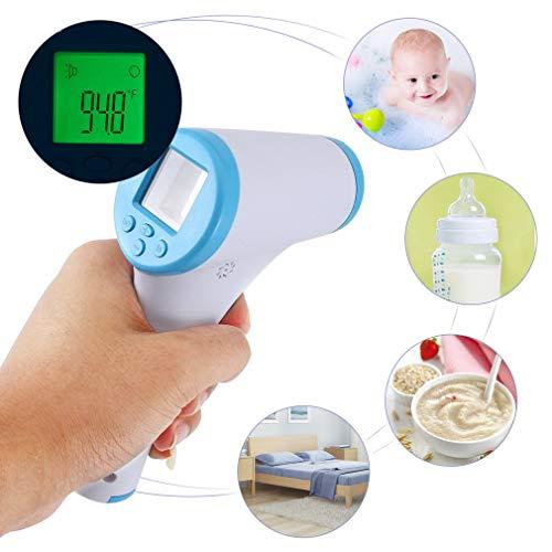 FlowerDas Termómetro Frente, lecturas precisas instantáneas, termómetro Digital infrarrojo Digital sin Contacto, para bebés, niños, Adultos