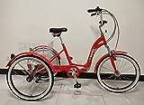 SCOUT Triciclo para Adulto, Cuadro de aleación, Plegable, 6Marchas, con suspensión Delantera - Rojo