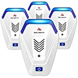 morneve Ultrasonic Pest Repeller 4 Pack, Indoor Home Defense Pest Control Plug in, Pest Repellent Ultrasonic Pest Defender for Mice, Spiders, Insects, Bugs and Ants…