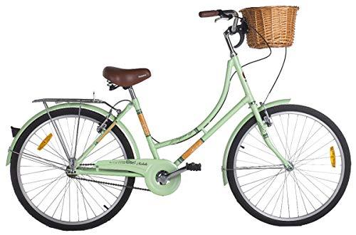 Bicicleta Vintage Retrô Imperial Aro 26 7V Shimano Verde