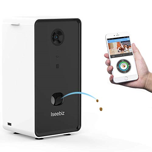 Iseebiz Videocamera Cani Telecamera HD WiFi per Animali e Audio Bidirezionale