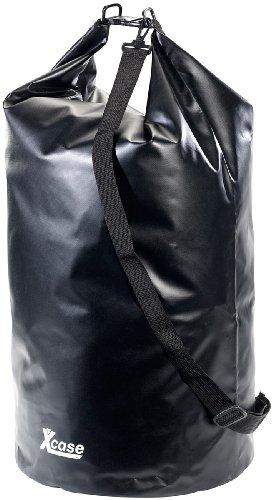 Xcase Seesack: Wasserdichter Packsack 70 Liter, schwarz (Seesack wasserdicht)