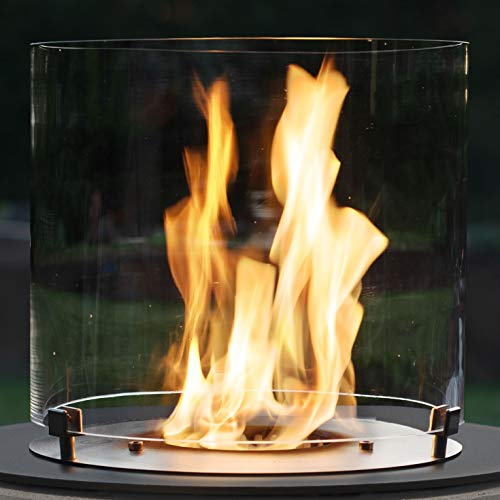 Muenkel Design Handmade Glass Cylinder for Ethanol Burners [Replacement Part 30 x 31.5 cm]