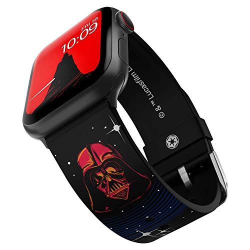 Star Wars - Darth Vader Edition - Banda de silicona oficial compatible con Apple Watch, compatible con 42 mm y 44 mm