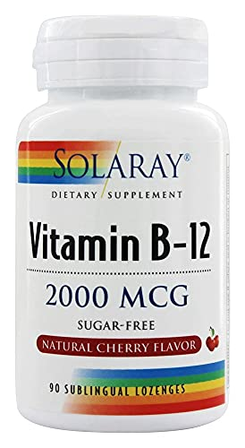 SOLARAY Vitamina B-12 2000mcg | Sabor a cereza natural sin azúcar |...