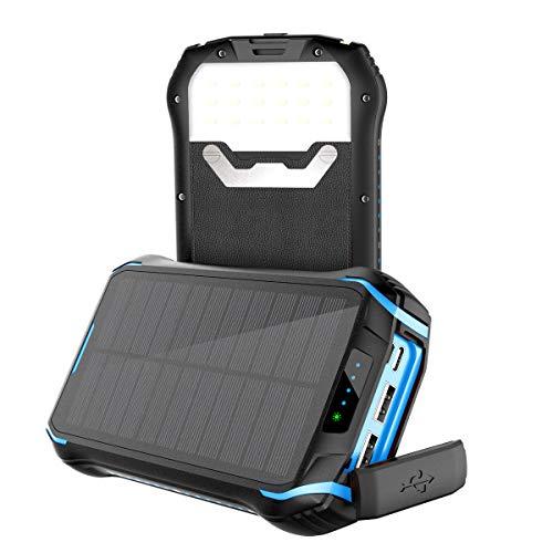 Soluser Powerbank 26800mAh Caricabatterie Portatile Solare Powerbank, 9.3A 3 Porte USB Batteria...