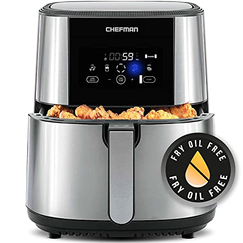 Chefman TurboFry Air Fryer, XL 8-Qt Capacity for Family Cooking