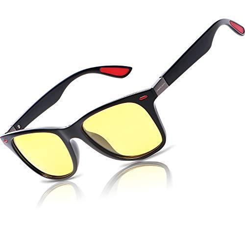Night Vision Glasses For Driving - HD Anti Glare Clearsight Sun Glasses Men Women Ray Frame Rainy Safe Nighttime Polarized Fashion Night Sight Ray Sunglasses