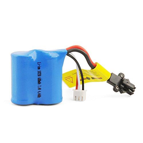 GizmoVine 7.4v 600MAH Batterie RC-Boot Batterie Lion Lion Batterie FüR H102 H106 Ferngesteuertes Boot RC Boot