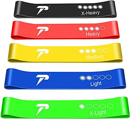 Tuco Sport Set Da 5 Bande Elastiche Fitness5 Livelli Di Resistenza-Lattice NaturaleElastici Per AllenamentoCon Istruzioni Per Esercizi E Borsa per Il Trasporto Per Pilates,Yoga,Palestra (Multi)