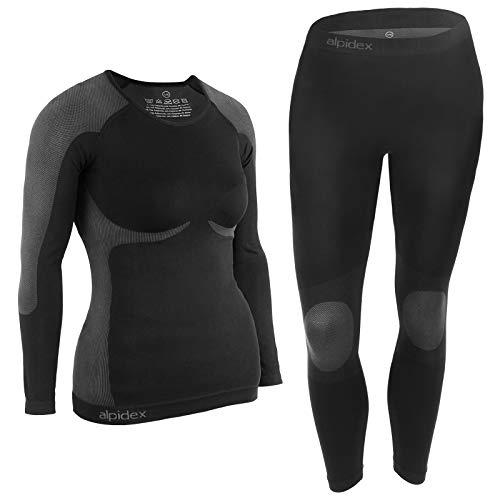 ALPIDEX Ropa Interior para esquí, térmica y Funcional para Mujer -...