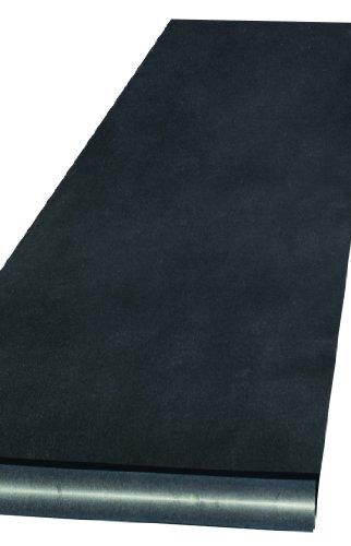 Hortense B. Hewitt Wedding Accessories Fabric Aisle Runner, 100-Feet Long, Black