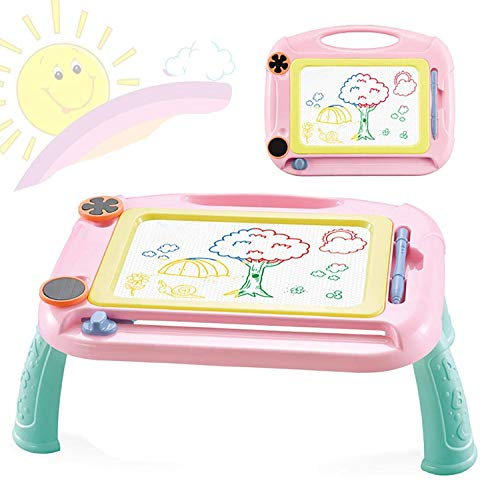 Magnetic Doodle Board Toys for 1-4 Year Old Kids Gifts, Baby Drawing Board for Kids Toys for Kids Age 1 2 3 Sketch Pad for Toddlers Kids Birthday Gift for 1 2 3 4 Year Old Kids Gifts Age 1-4 (Pink)