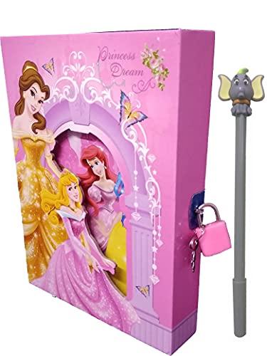 SHREE TECHNESH® Cute Angel Printed Designer Lock Diary with Pen, Lock Diary for Girls Kids