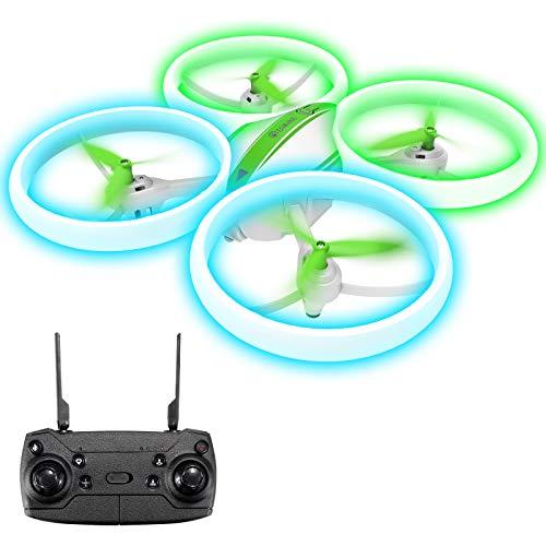 EACHINE E65H Drone per Principianti Funzione Hovering modalit Senza Testa Rotazione a 360, Decollo/Atterraggio a Un Tasto, velocit Regolabile (Verde)