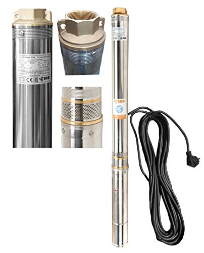 "Tiefbrunnenpumpe Brunnenpumpe 3,5\"" 89 mm 6300 l/h 0,8kW 6,3 bar sandresistent"