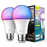 Smart Light Bulbs 2 Pack, Treatlife 2.4GHz Music Sync Color Changing Light Bulb, Works with Alexa,...